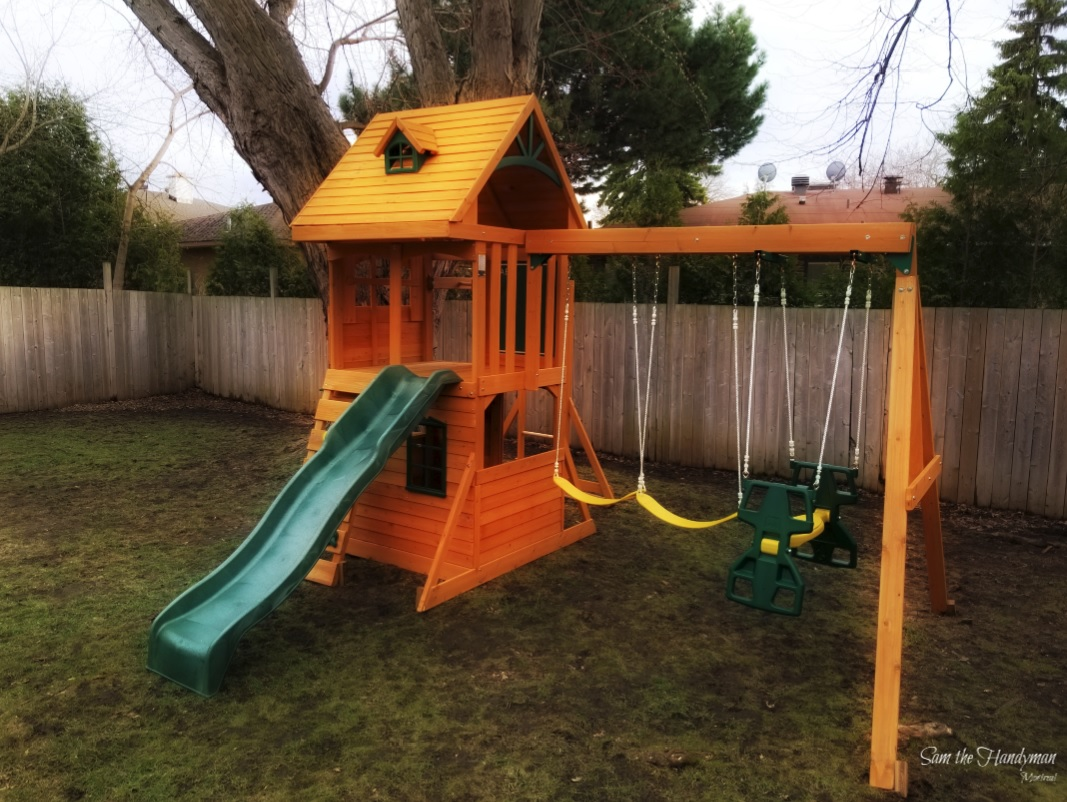 Ridgeview Deluxe Swing Set Installation.